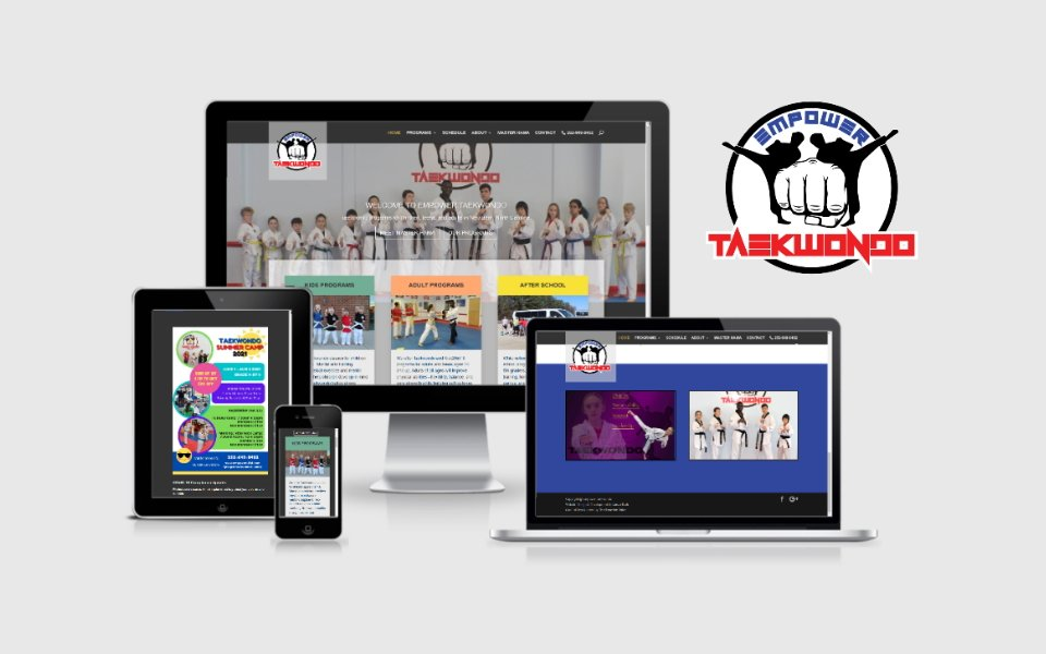 Empower Taekwondo website development