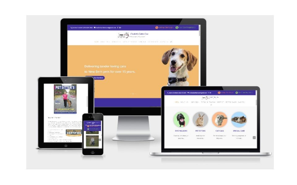 Crockett's Critter Care Responsive website