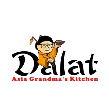 Dalat Grandmom Asian Restaurant Logo design