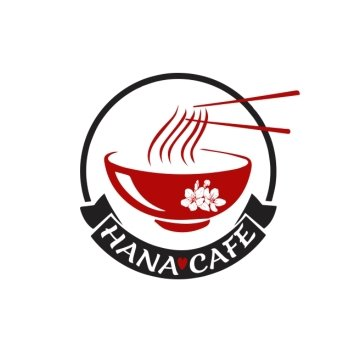 Hana Cafe logo design