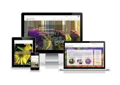 Website Design Pinecone Home and Garden